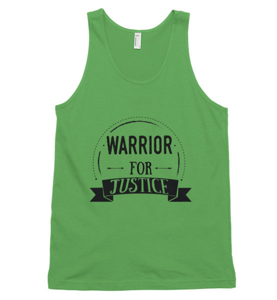 "Femen Unisex Tank Top ""Warrior For Justice"""