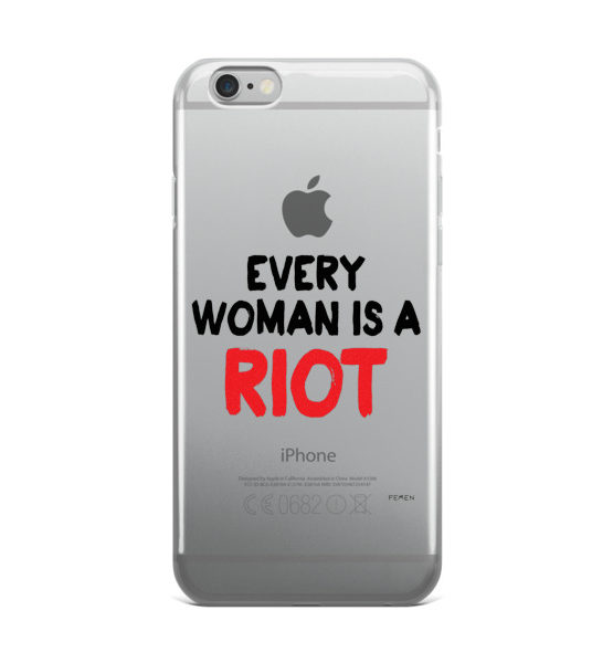 "Femen iPhone Case ""Every Woman Is A Riot III"""