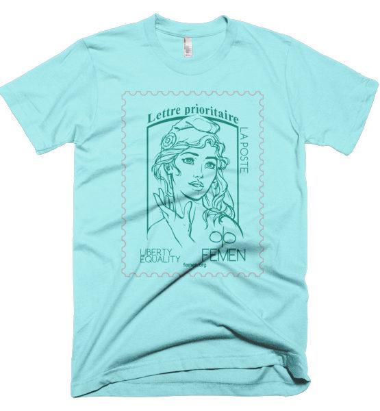 "Femen Man's T-Shirt ""Lettre Prioritaire"""
