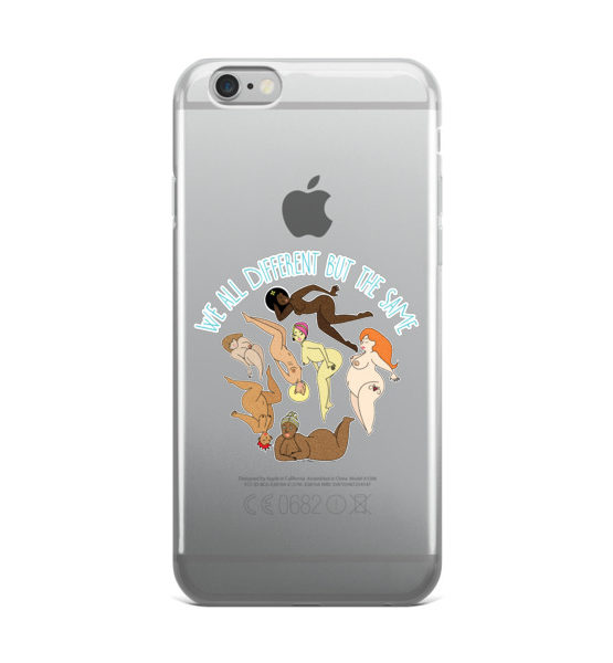 """Femen iPhone Case """"We All Different But The Same"""""""