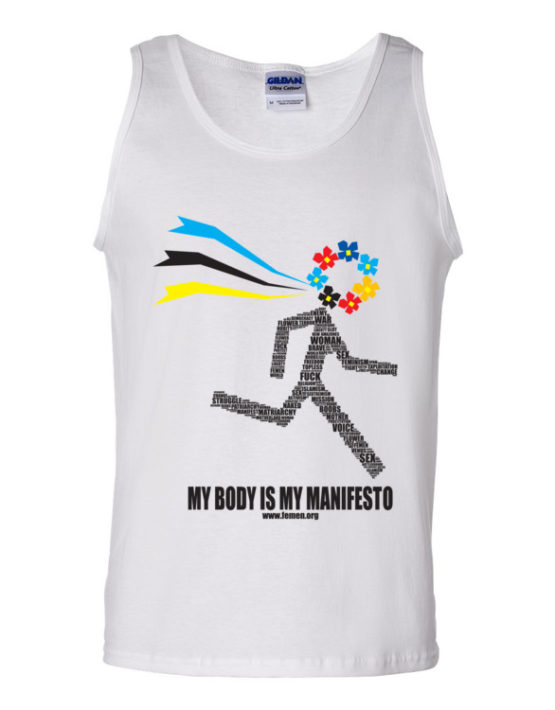 "Femen Man's Tank Top ""My Body Is My Manifesto"""