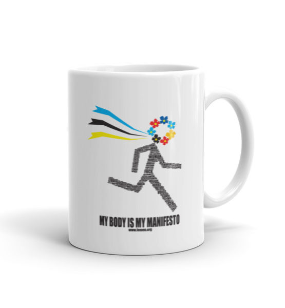 "Femen Mug ""My Body Is My Manifesto"""