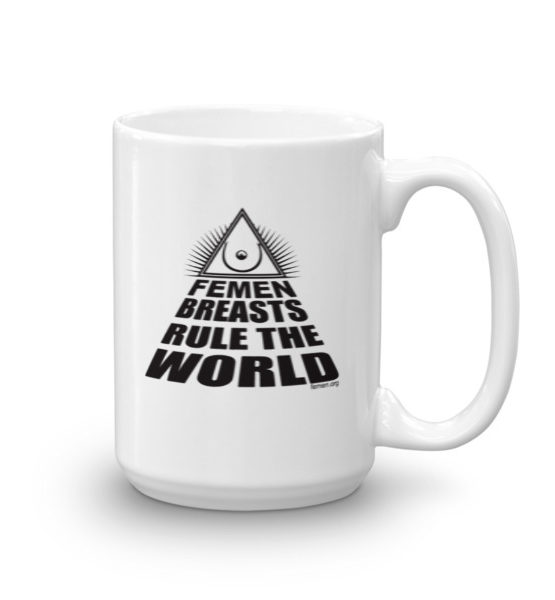 "Femen Mug ""Femen Breasts Rule The World"""