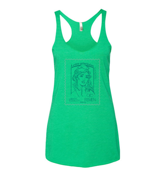 "Femen Woman's Tank Top ""Lettre Prioritaire"""