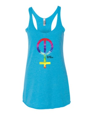 "Femen Woman's Tank Top ""In Gay We Trust"""