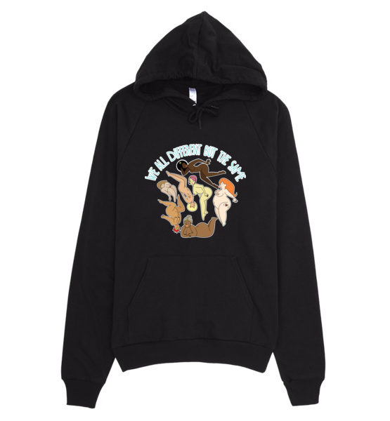 "Femen Unisex Hoodie ""We All Different But The Same"""