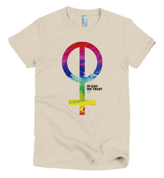 "Femen Woman's T-Shirt ""In Gay We Trust"""