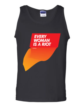 "Femen Man's Tank Top ""Every Woman Is A Riot II"""