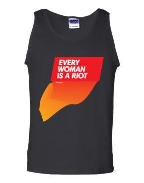 """Femen Man's Tank Top """"Every Woman Is A Riot II"""""""