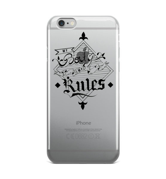 "Femen iPhone Case ""My Body My Rules"""