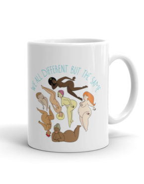 "Femen Mug ""We All Different But The Same"""