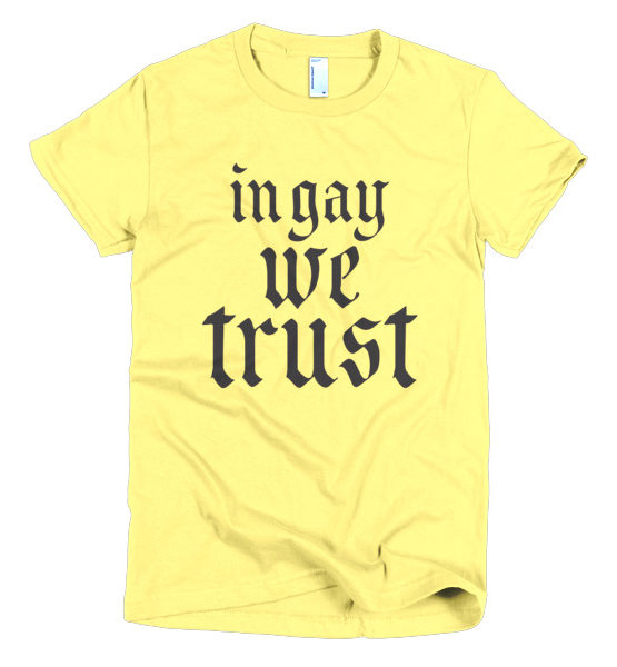 "Femen Woman's T-Shirt ""In Gay We Trust II"""