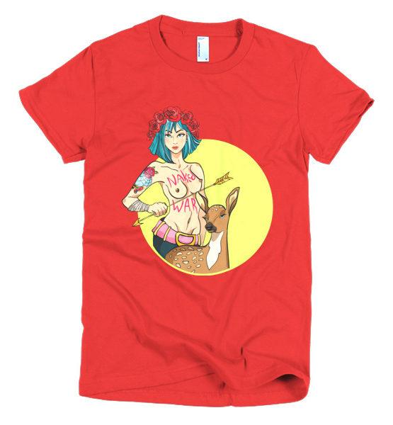 """Femen Woman's T-Shirt """"Naked War"""""""