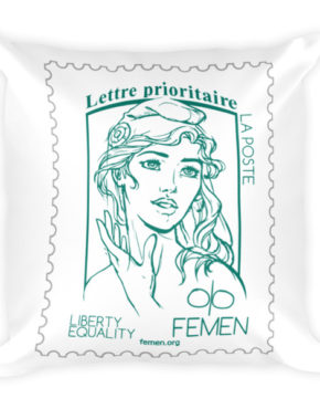 """Femen Pillow """"Lettre Prioritaire"""""""