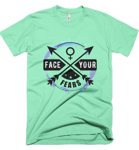 "Femen Man's T-Shirt ""Face Your Fears"""
