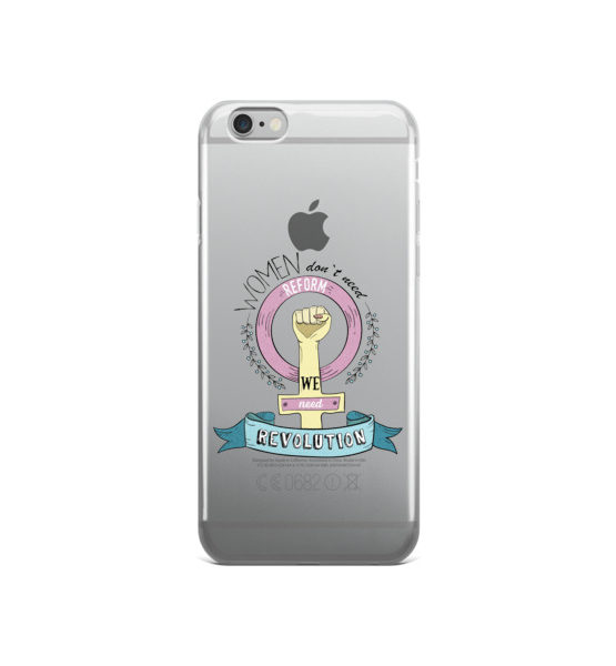 "Femen iPhone Case ""Women Don't Need Reform We Need Revolution"""