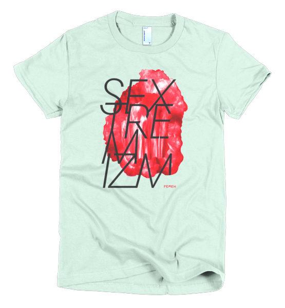 "Femen Woman's T-Shirt ""Sextremism"""