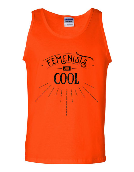 "Femen Man's Tank Top ""Femenists Are Cool"""