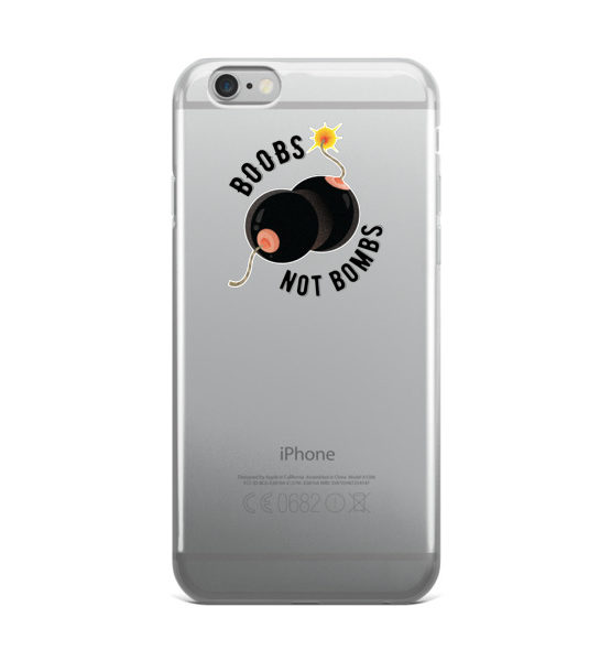 "Femen iPhone Case ""Boobs Not Bombs"""