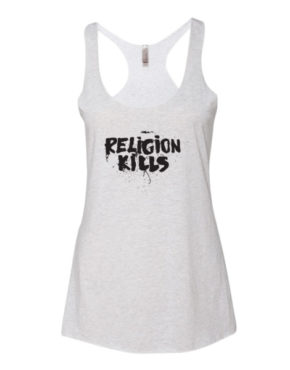 "Femen Woman's Tank Top ""Religion Kills"""