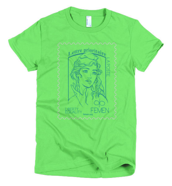"""Femen Woman's T-Shirt """"Lettre Prioritaire"""""""