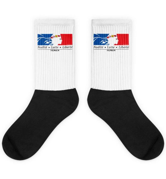 """Femen Socks """"Nudite Lutte Liberte"""""""