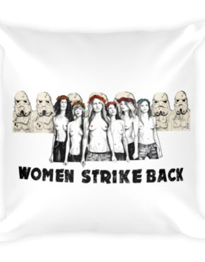 "Femen Pillow ""Women Strike Back"""