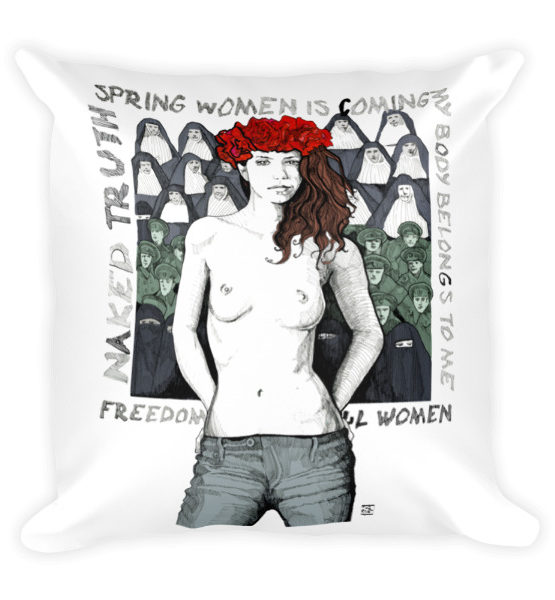 "Femen Pillow ""Spring Woman Is Coming"""