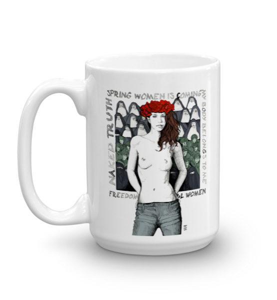 """Femen Mug """"Spring Woman Is Coming"""""""