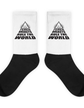 "Femen Socks ""Femen Breasts Rule The World"""