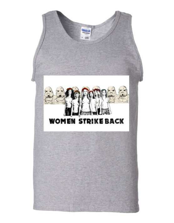 "Femen Man's Tank Top ""Women Strike Back"""