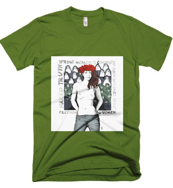 "Femen Man's T-Shirt ""Spring Woman Is Coming"""