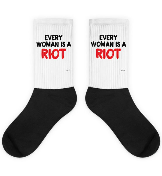 "Femen Socks ""Every Woman Is A Riot III"""