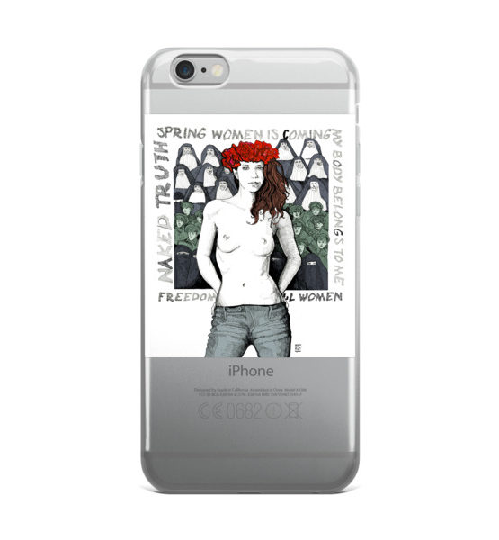 "Femen iPhone Case ""Spring Woman Is Coming"""