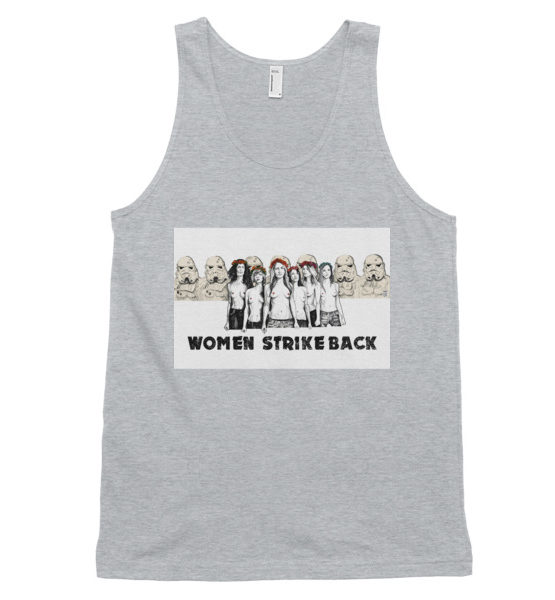 "Femen Unisex Tank Top ""Women Strike Back"""