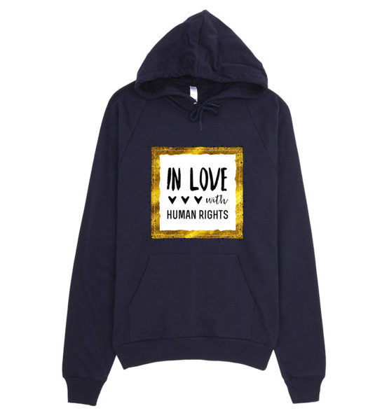 "Femen Unisex Hoodie ""In Love With Human Rights"""