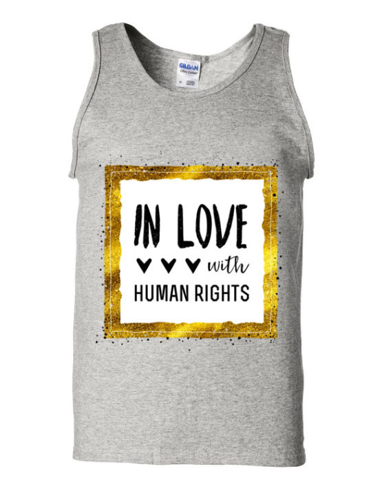 "Femen Man's Tank Top ""In Love With Human Rights"""