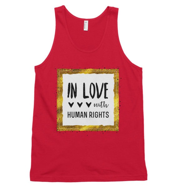 "Femen Unisex Tank Top ""In Love With Human Rights"""
