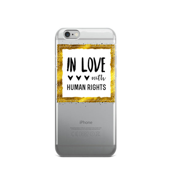 "Femen iPhone Case ""In Love With Human Rights"""