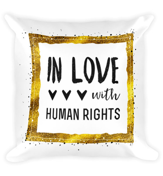 "Femen Pillow ""In Love With Human Rights"""
