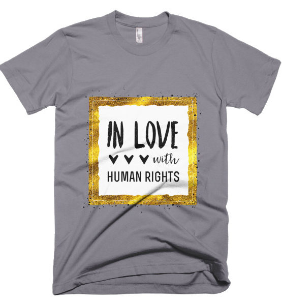"""Femen Man's T-Shirt """"In Love With Human Rights"""""""