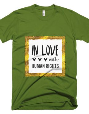 "Femen Man's T-Shirt ""In Love With Human Rights"""