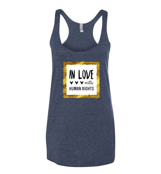 "Femen Woman's Tank Top ""In Love With Human Rights"""