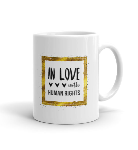 "Femen Mug ""In Love With Human Rights"""