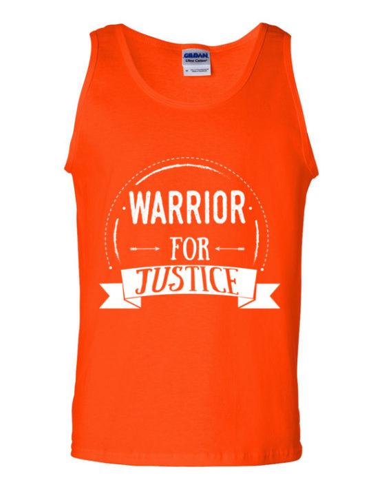 "Femen Man's Tank Top ""Warrior For Justice Dark"""