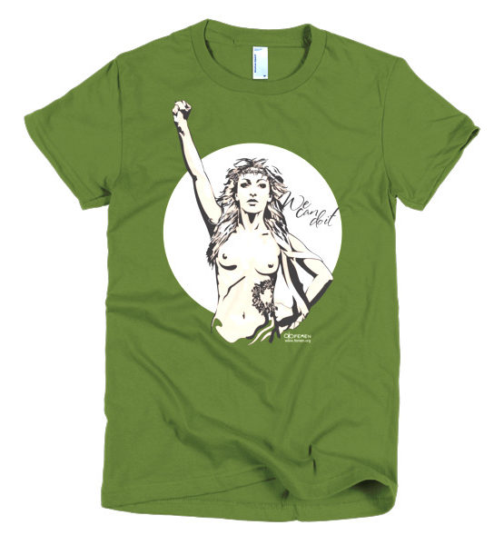 "Femen Woman's T-Shirt ""We Can Do It Dark"""