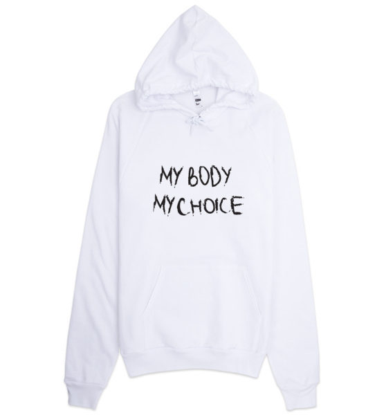 "Femen Unisex Hoodie ""My Body My Choice"""