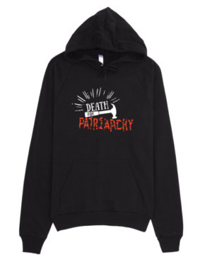 "Femen Unisex Hoodie ""Death For Patriarchy Dark"""
