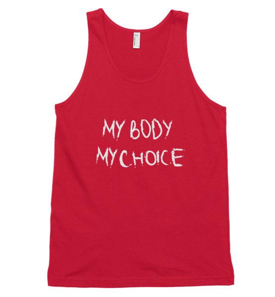 "Femen Unisex Tank Top ""My Body My Choice Dark"""