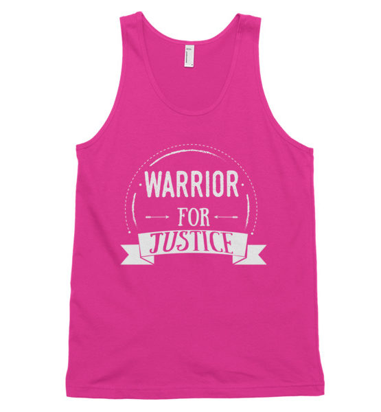 "Femen Unisex Tank Top ""Warrior For Justice Dark"""